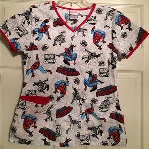 Spider-Man scrub top
